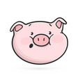 surprised emoticon icon emoji pig vector image