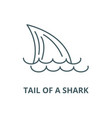 tail a sharksea line icon linear vector image vector image