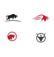 taurus logo template icon design vector image vector image