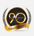 template 90 years anniversary vector image vector image