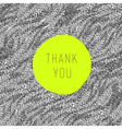 thank you card green label vector image vector image