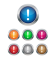 Warning buttons vector image