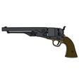 Wild West revolver vector image vector image