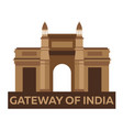 gateway of india indian architecture mumbai vector image