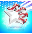 happy memorial day greeting card with national vector image