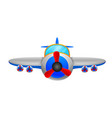 a aeroplane on a white background vector image vector image