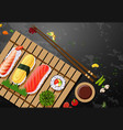 a set of sushi meal vector image vector image