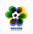 abstract football game vector image vector image