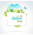 Abstract summer banner vector image