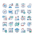analytics and investment flat icons pack vector image vector image