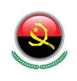 angola flag button angola flag icon of angola vector image