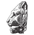antique lion head is found at the vatican vintage vector image vector image