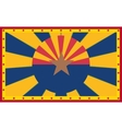 Arizona state sun rays banner vector image vector image