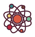 atom or molecule structure isolated icon vector image