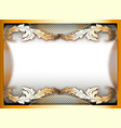 background frame with gold ornament and place for vector image vector image