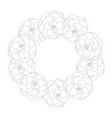 begonia flower picotee outline wreath vector image vector image