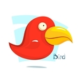 Big red bird vector image