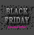 black friday sale vintage inscription design vector image