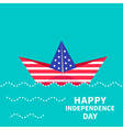 boat happy independence day us america vector image
