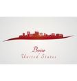 Boise skyline in red vector image