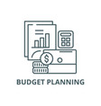 budget planning line icon budget planning vector image vector image