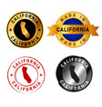 california badges gold stamp rubber band circle vector image vector image