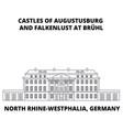 Castles of augustusburg westphalia germany lin vector image