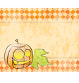 checkered background pumpkin decorating for vector image vector image