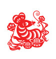 chinese lunar year mouse vector image vector image