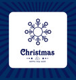 christmas card with blue snow flakes vector image