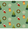 Christmas seamless pattern with new year holidays vector image vector image