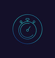 chronometer stopwatch linear icon vector image vector image