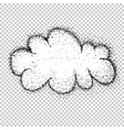 clouds tattoo style drawing vector image