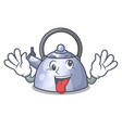 crazy stainless whistling tea kettle isolated on vector image vector image