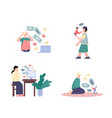 cyberbullying and harassment in network cartoon vector image vector image