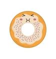 donut kawaii dessert cute sweet icon vector image