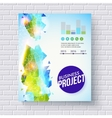Dynamic fresh business project template vector image vector image