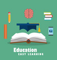 education easy learning set icons vector image vector image