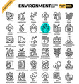 environment eco concept detailed line icons vector image vector image