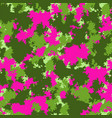 fashion camo colorful camouflage pattern vector image vector image
