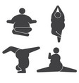 fat overweight woman obese women exercises and vector image vector image