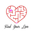 find your love vector image vector image