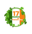 flag ireland for st patricks day march 17 vector image