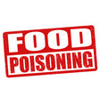 food poisoning sign or stamp vector image