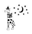 funny giraffe nursery art minimalist vector image