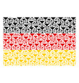 german flag collage of martini glass items vector image
