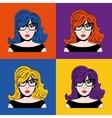 Girl cartoon icon Pop art design graphic vector image vector image