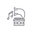 gramophone line icon concept gramophone vector image vector image