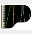 grand piano lazers vector image vector image
