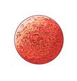 hand drawn sketch planet mars in color vector image vector image